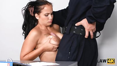 Babe wants to try sex wide guy in attach officer uniform unrefined caged