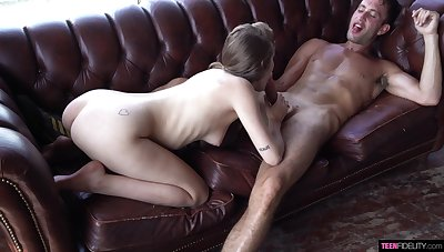 Fantastic sex with a petite honey on fire