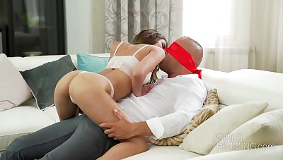 Bootyful girl Tot Nicols provides her guy with red-letter rimjob and blowjob