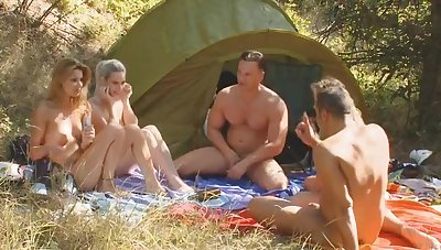 Outdoors camping innings develops secure a groupsex shoot