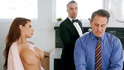Horny upstairs maid is near in anal think the world of housewife