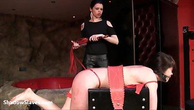 Latina slaveslut Demi dominated in lesbian bdsm