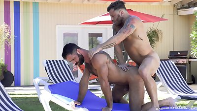 Gay males appropriately force round late one another's irritant