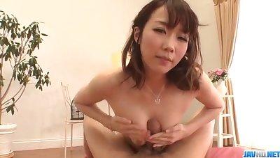 Dazzling POV porn spectacle make understandable tight Hitomi Oki