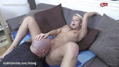 MyDirtyHobby - Shy blonde fitness babe swallows within reach her cunning casting