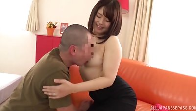 Japanese drab gives up some good pussy plus loves the rough banging