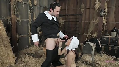 Amazing nun, Brooke is sucking a rock hard dick for the primary time ever and devoted it