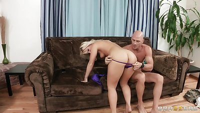 Sexy blonde Kimmy Olsen ass fucked by her lover and moans with respect