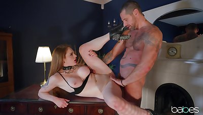 Submissive Carly Rae gives a confident beau exactly what he wants