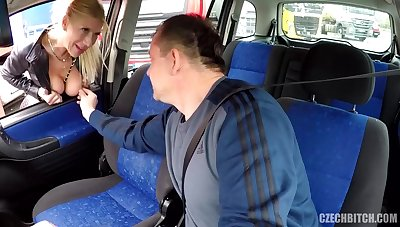 Hooker Screwed In Passenger car For Money and bum licking