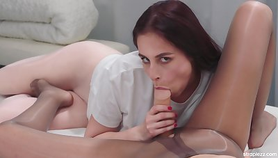 ejaculating dildo, ripped pantyhose plus sordid fetish