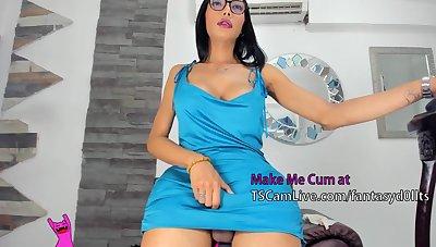 large 10-Pounder latina ladyman Masturbates Upstairs lace-work camera Live