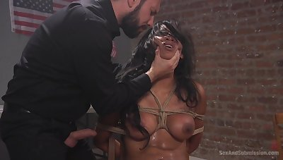 Slave girl Sadia Santana fucked balls deep by her male master