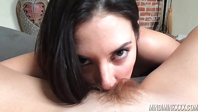 Jelena Jensen licks hairy pussy of down in the mouth milf Mindi Mink in hot POV video