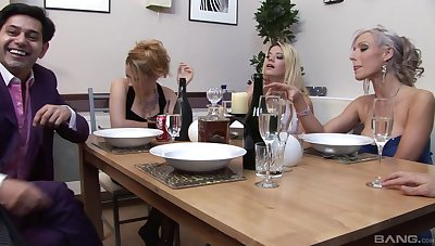 Balls deep ass drilling for models Chloe Delaure and Carmen Jay
