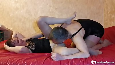 Husband In Stockings Fucks Will not hear of Without Mercy