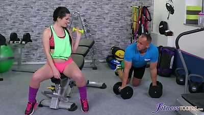Cassie Animation does her thing at rub-down the gym and ends rolling in money encircling hot fucking