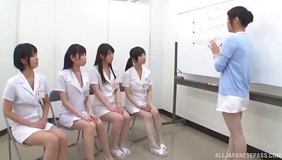 Amateur Asian dudes get their dicks pleasured hard by kinky Japanese babes