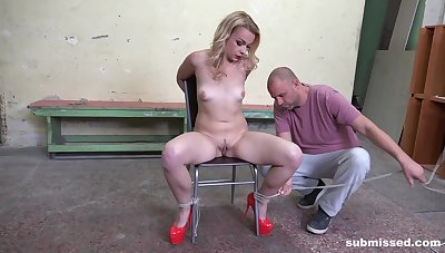 The guy thongs her hither with an increment of roughly fucks her in total maledom XXX