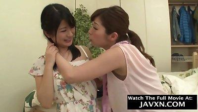 Lustful Japanese lesbians amateur sex video
