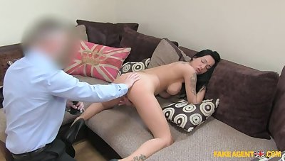 Dark Haired Hottie Comes Back Be useful to More Be useful to Agent's Cum