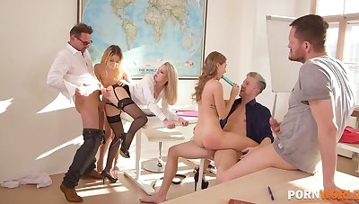 After jumble orgy with horny boyhood Tiffany Tatum, Rose & Rebecca Volpetti GP1383